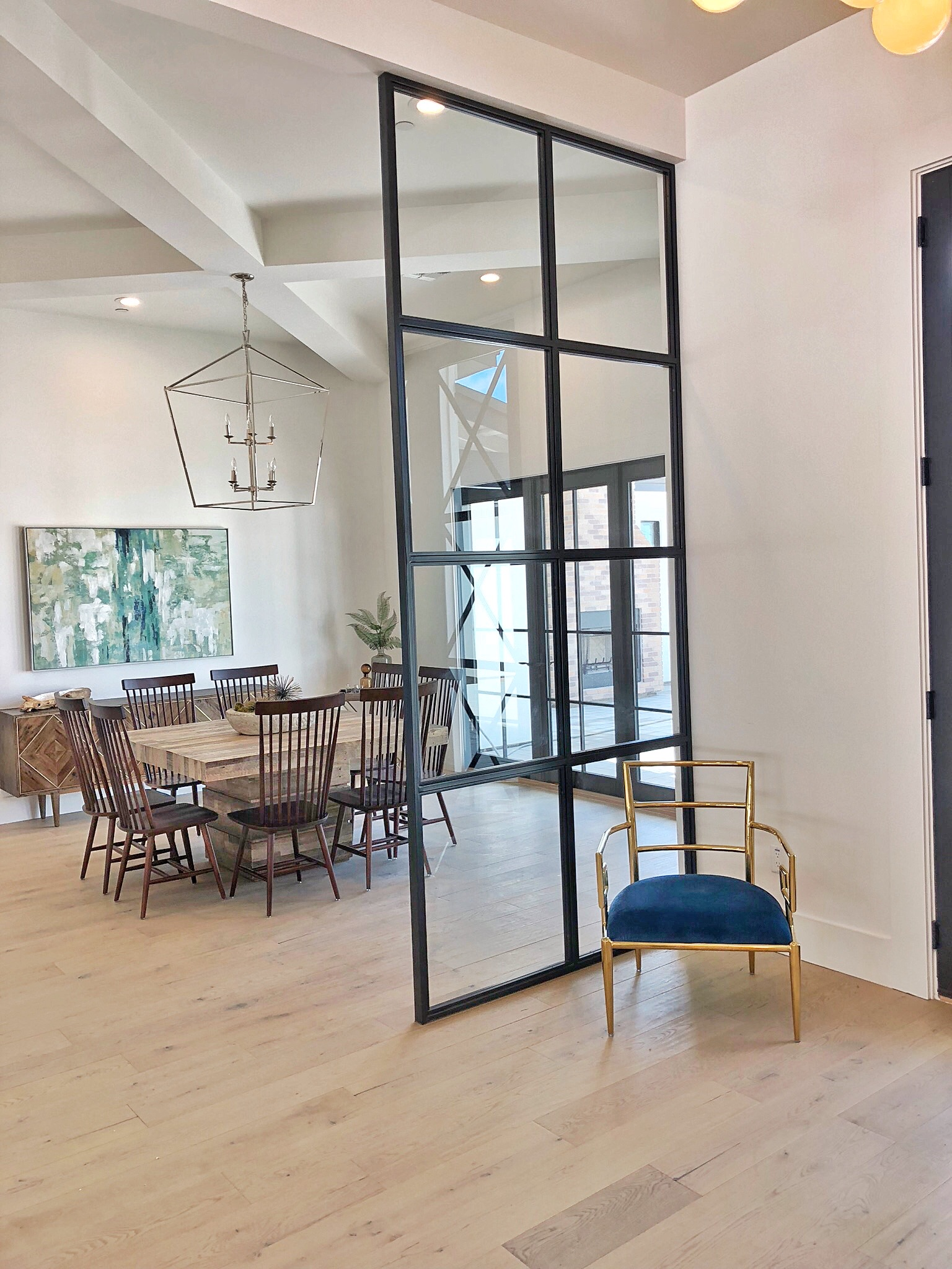 Glass And Steel Room Partition