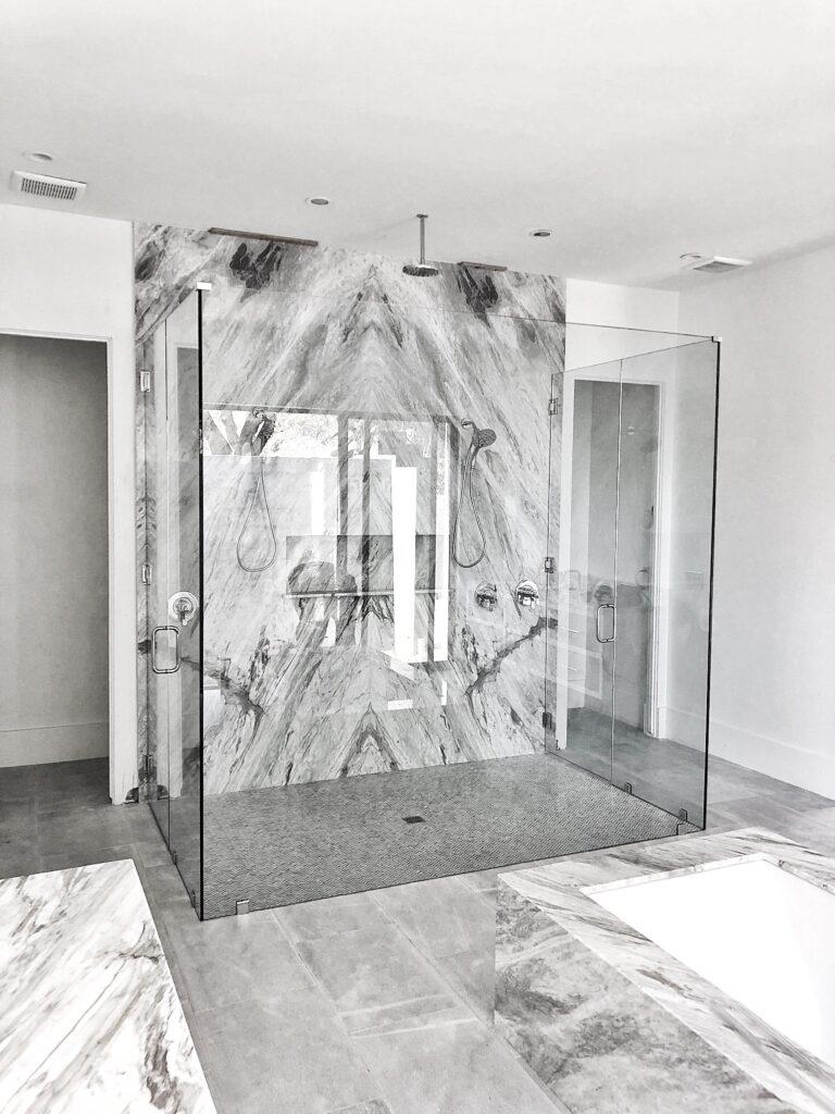 Frameless Glass Shower - Large Custom