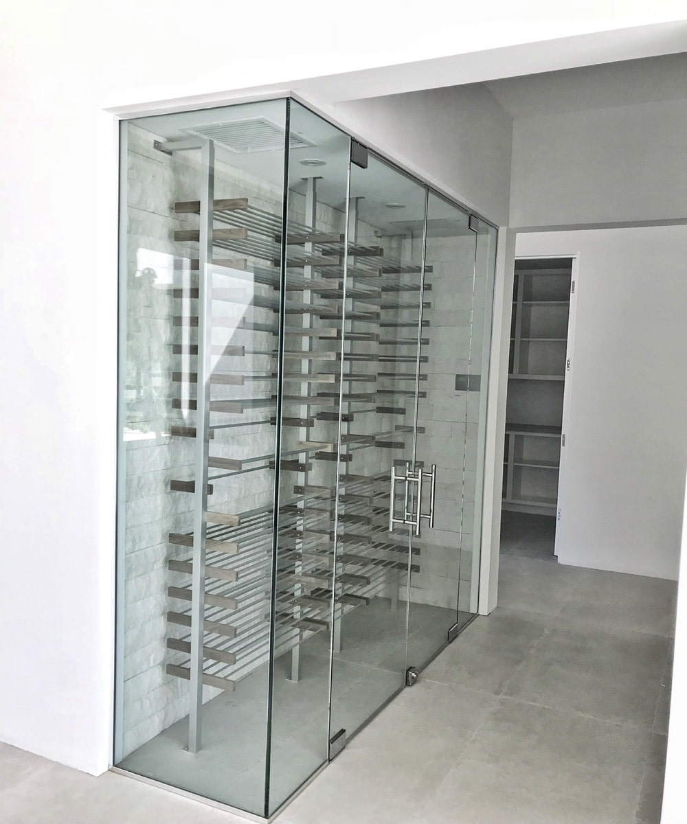 Glass & Steel Wine Rack Enclosure