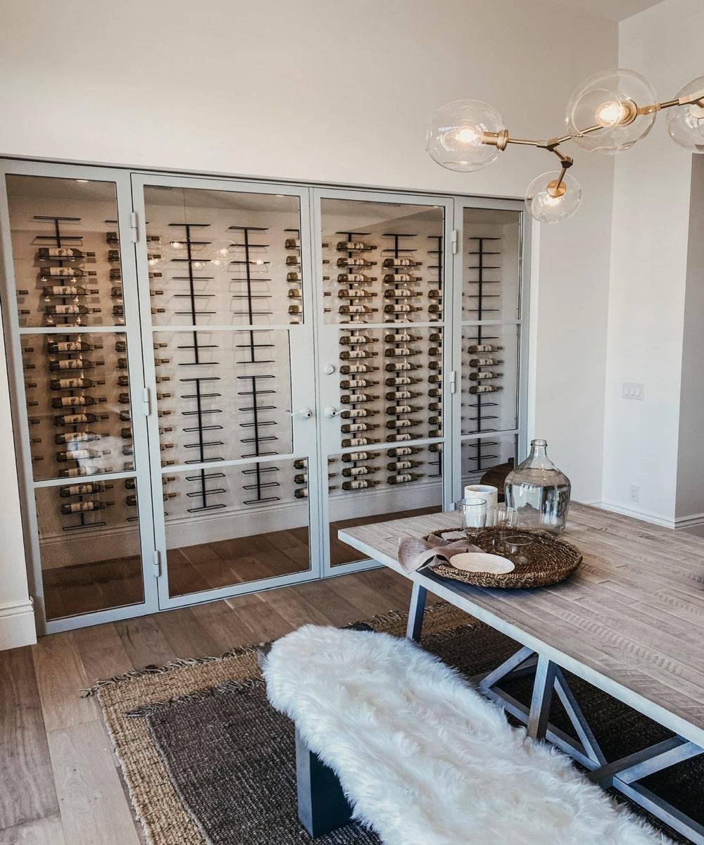 Wine Display Case - Custom Glass Installation