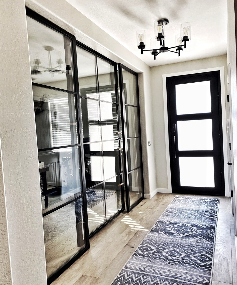 Residential Glass Office Doors And Partitioned Wall