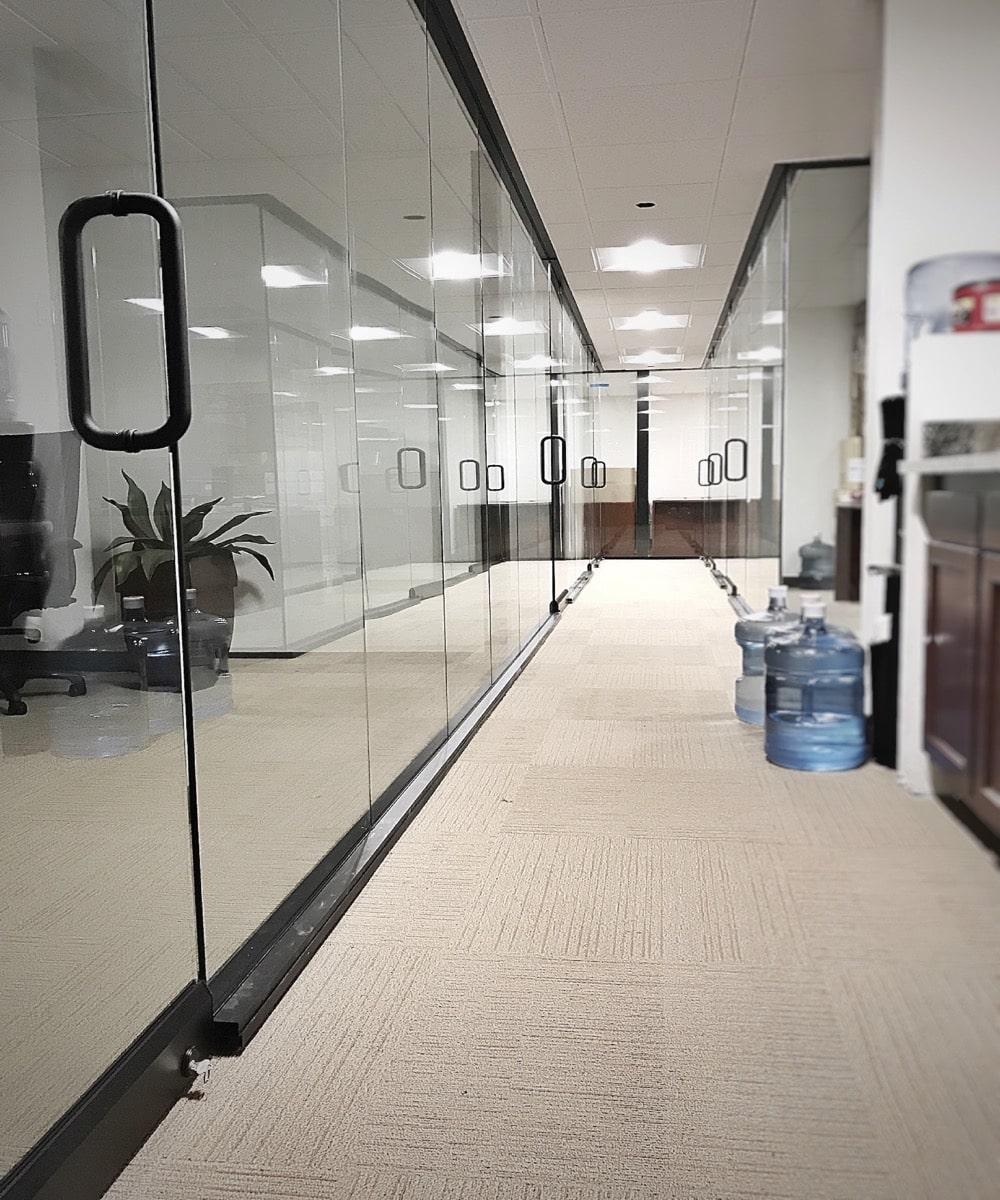 Hallway of Glass Doors - Installation