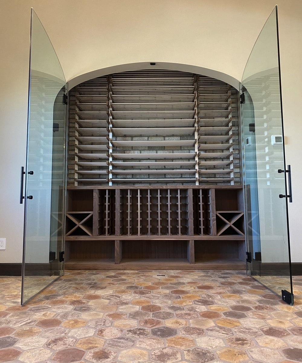 Glass Case Wine Cellar