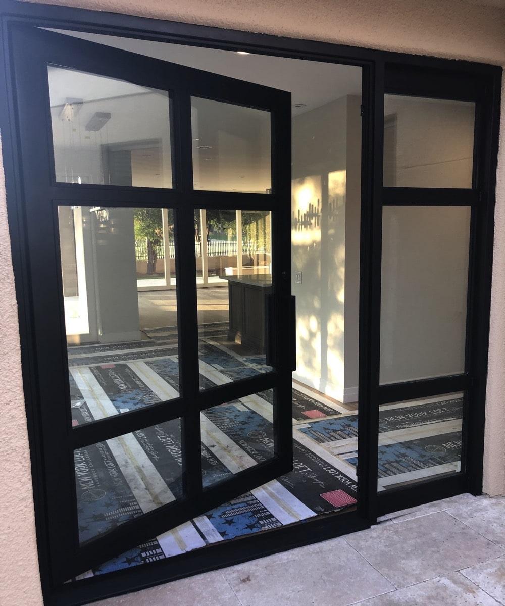 Large Custom Glass Door Installation