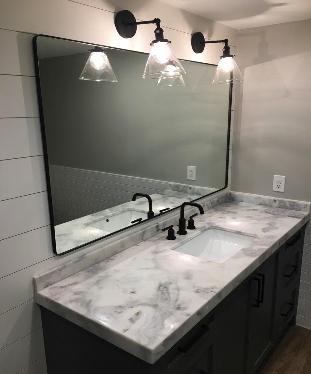 Large Mirror Installation
