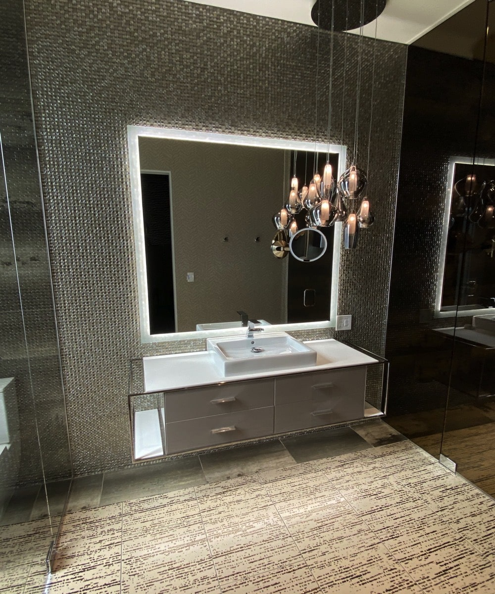 Large Bathroom Custom Vanity Mirror