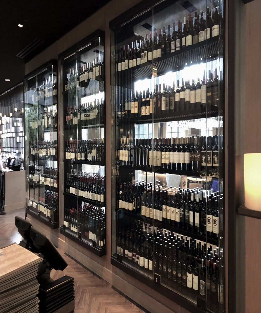 Custom Glass Wine Display Case