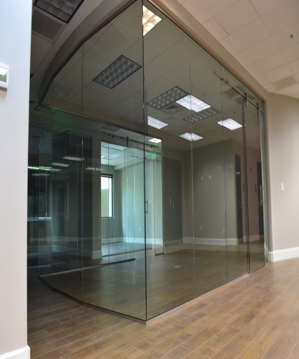 Large Glass Enclosed Office